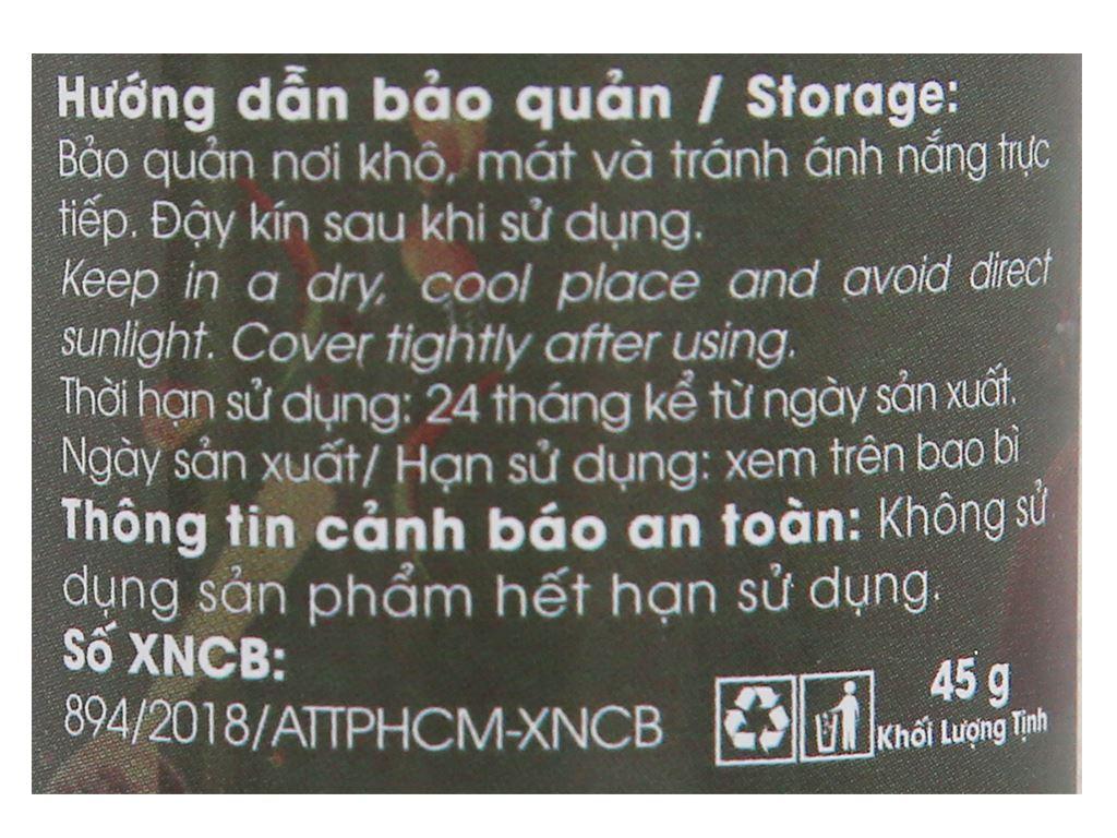 Tiêu sọ xay Phú Quốc DH Foods hũ 45g 5