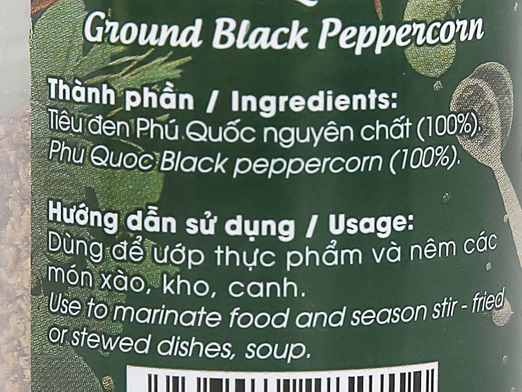 Tiêu đen xay Phú Quốc DH Foods hũ 45g 4