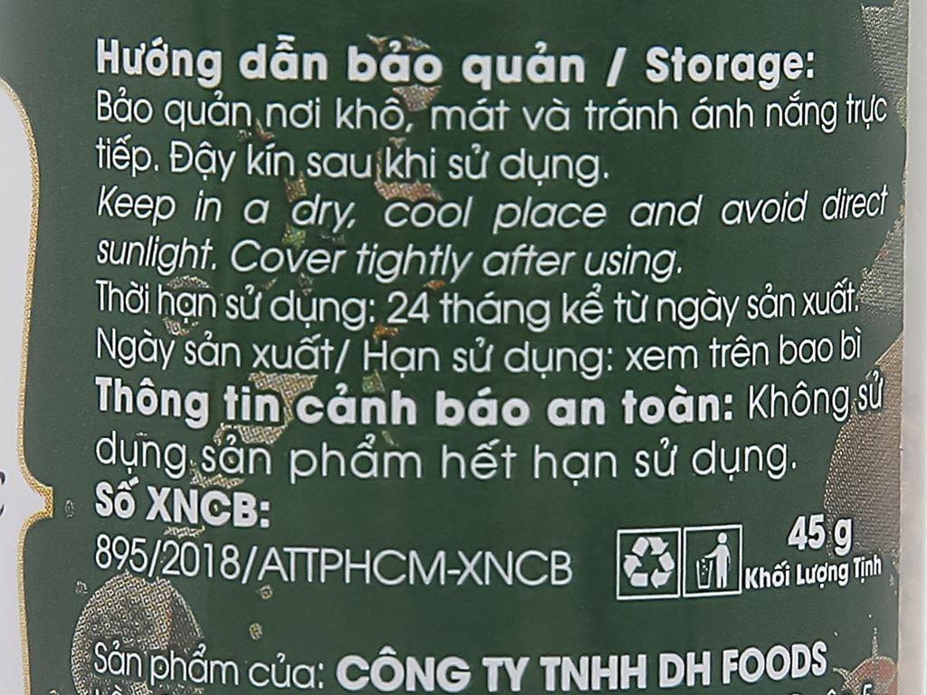 Tiêu đen xay Phú Quốc DH Foods hũ 45g 5