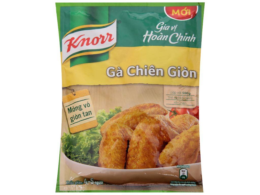 Bột gà chiên giòn gia vị hoàn chỉnh Knorr gói 30g 1