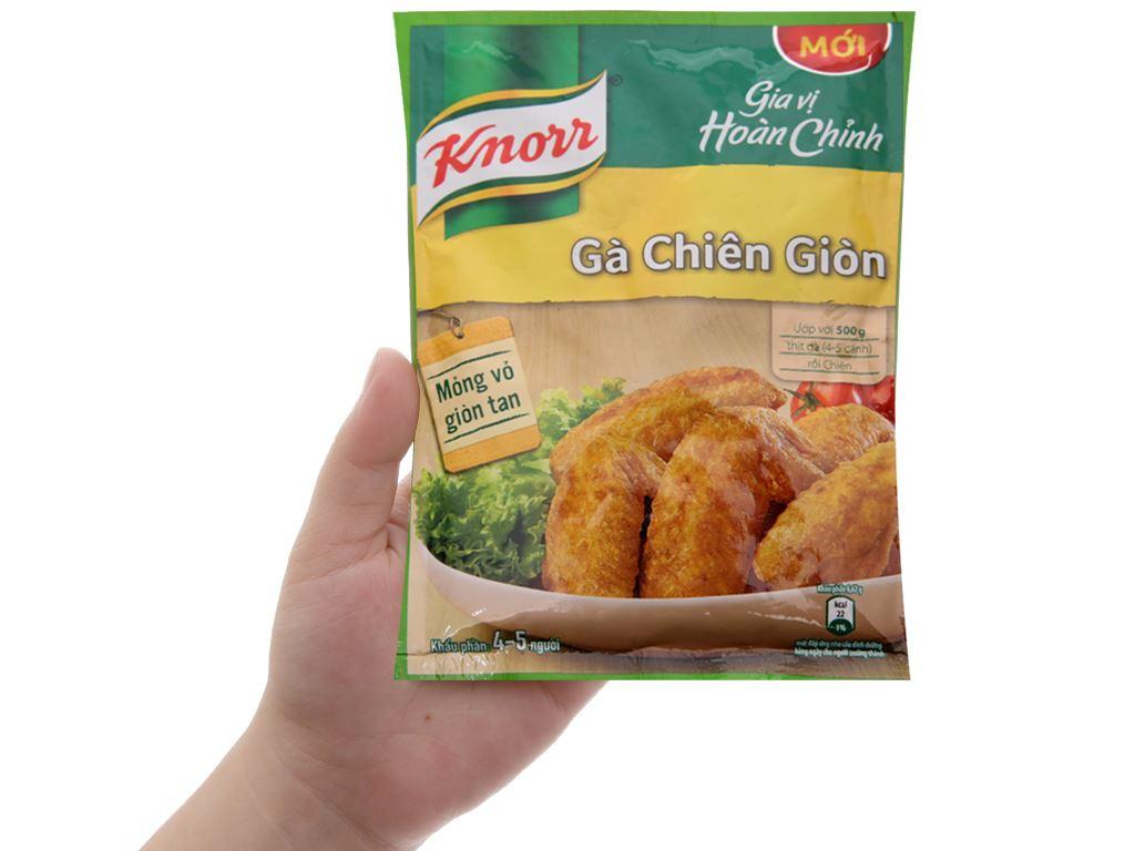 Bột gà chiên giòn gia vị hoàn chỉnh Knorr gói 30g 4