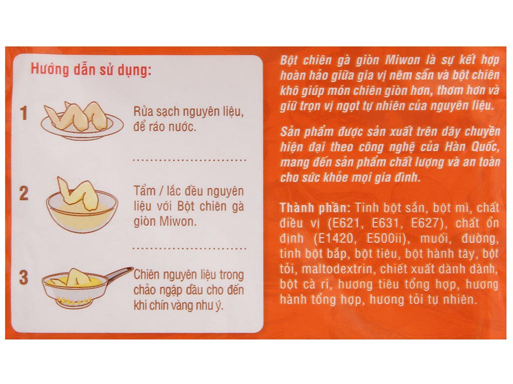 Bột chiên gà giòn Miwon gói 35g 4