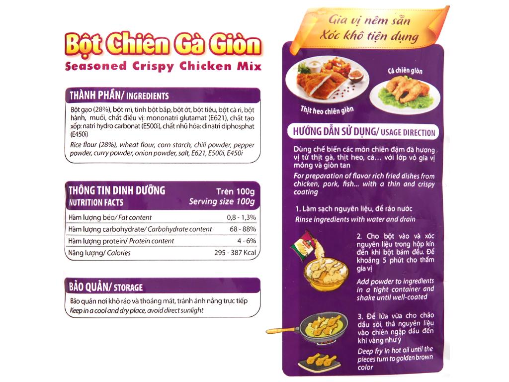 Bột chiên gà giòn Meizan gói 50g 3