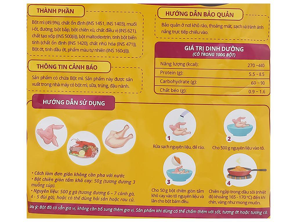 Bột tẩm khô chiên giòn vị cay Dali Food gói 150g 3