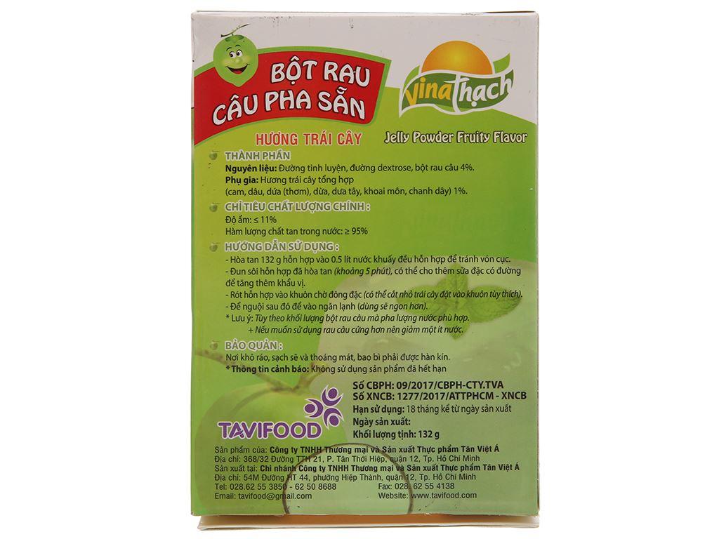 Bột rau câu pha sẵn hương dừa VinaThạch hộp 132g 3