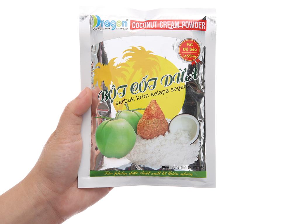 Bột cốt dừa 55% béo Dragon gói 50g 5