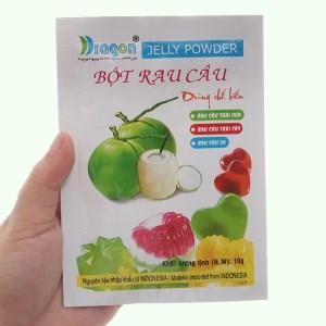 Bột rau câu dẻo hương dừa Dragon gói 10g