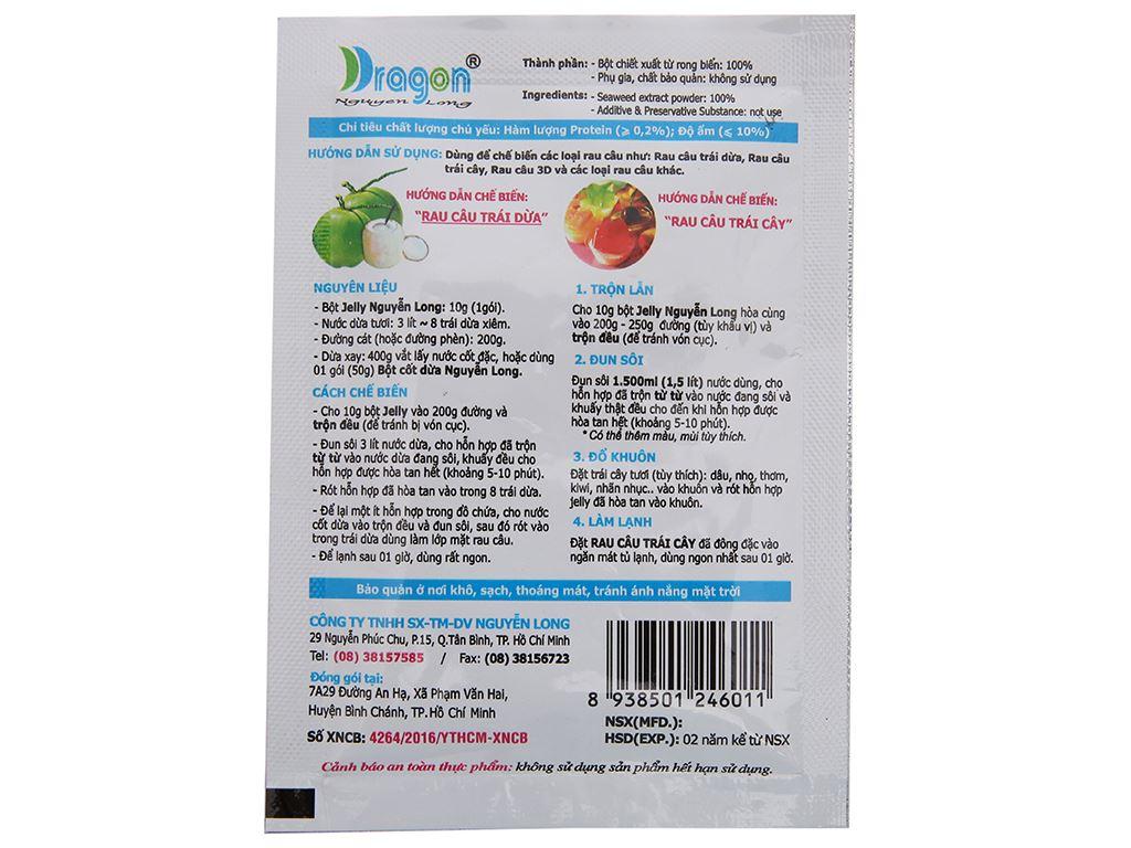 Bột rau câu Dragon hương dừa gói 10g 3