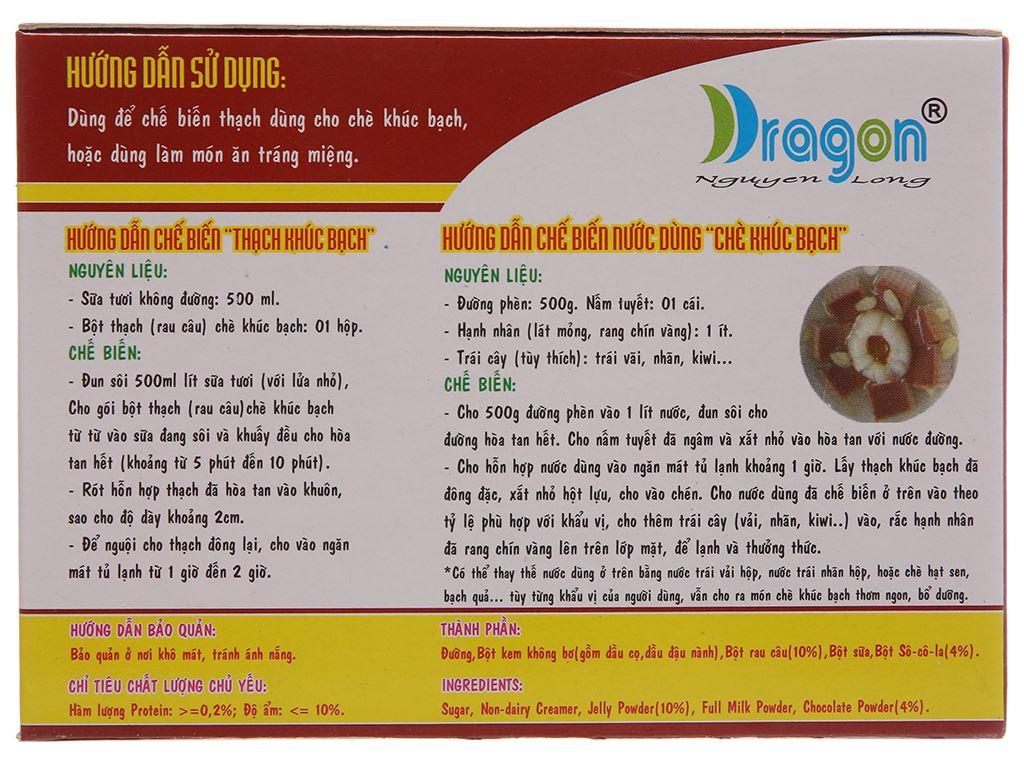 Bột thạch khúc bạch hương socola Dragon hộp 106g 3