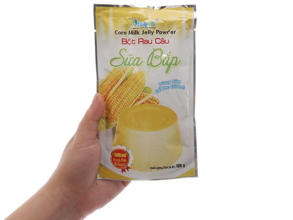 Bột rau câu sữa bắp Dragon gói 106g 5