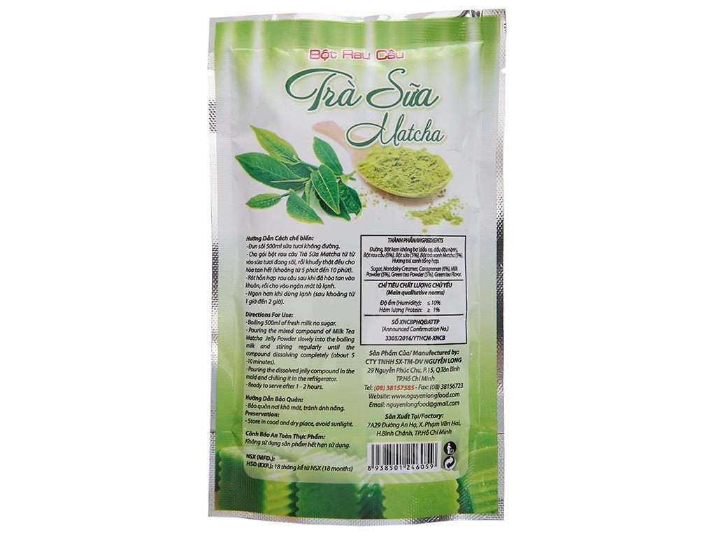 Bột rau câu trà sữa matcha Dragon gói 106g 3