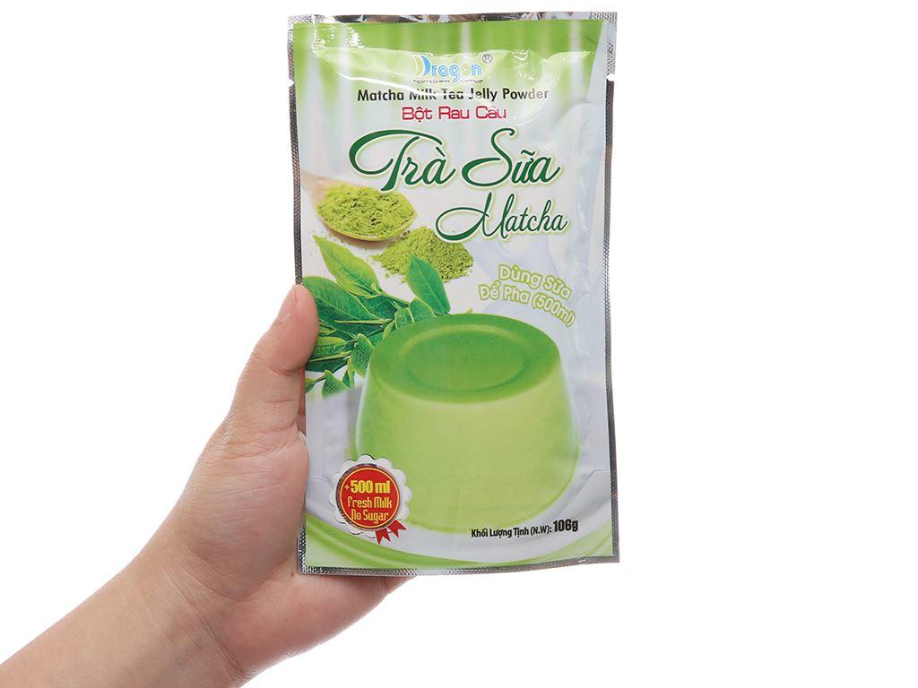 Bột rau câu trà sữa matcha Dragon gói 106g 5