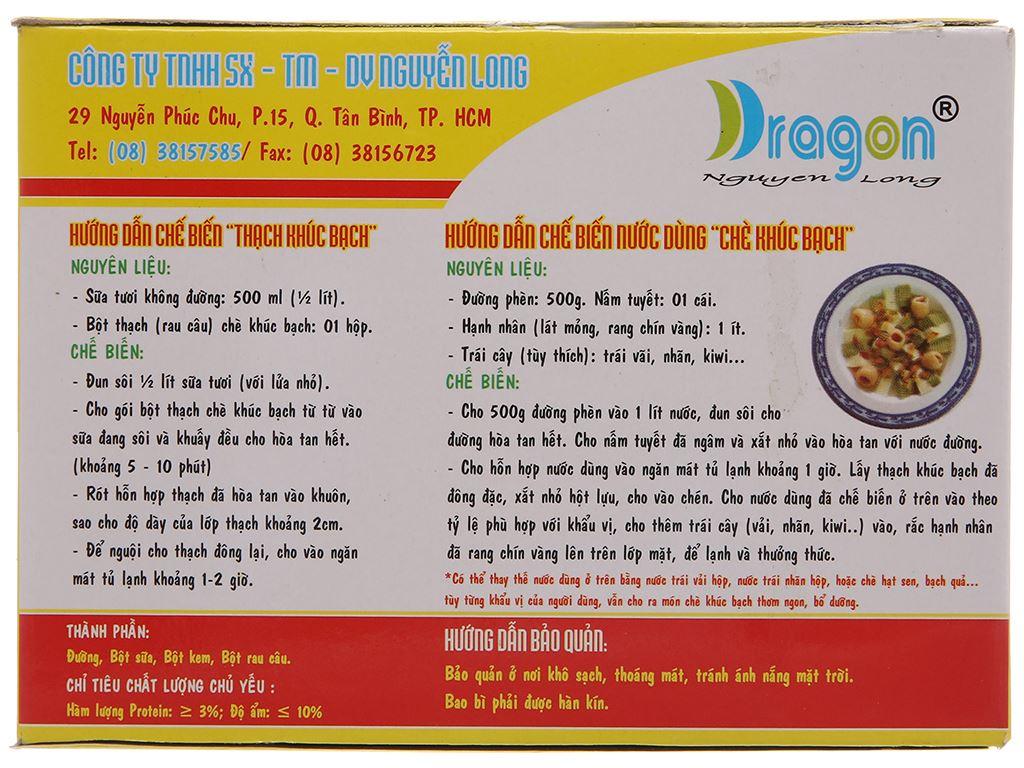 Bột thạch khúc bạch hương sữa tươi Dragon hộp 100g 3