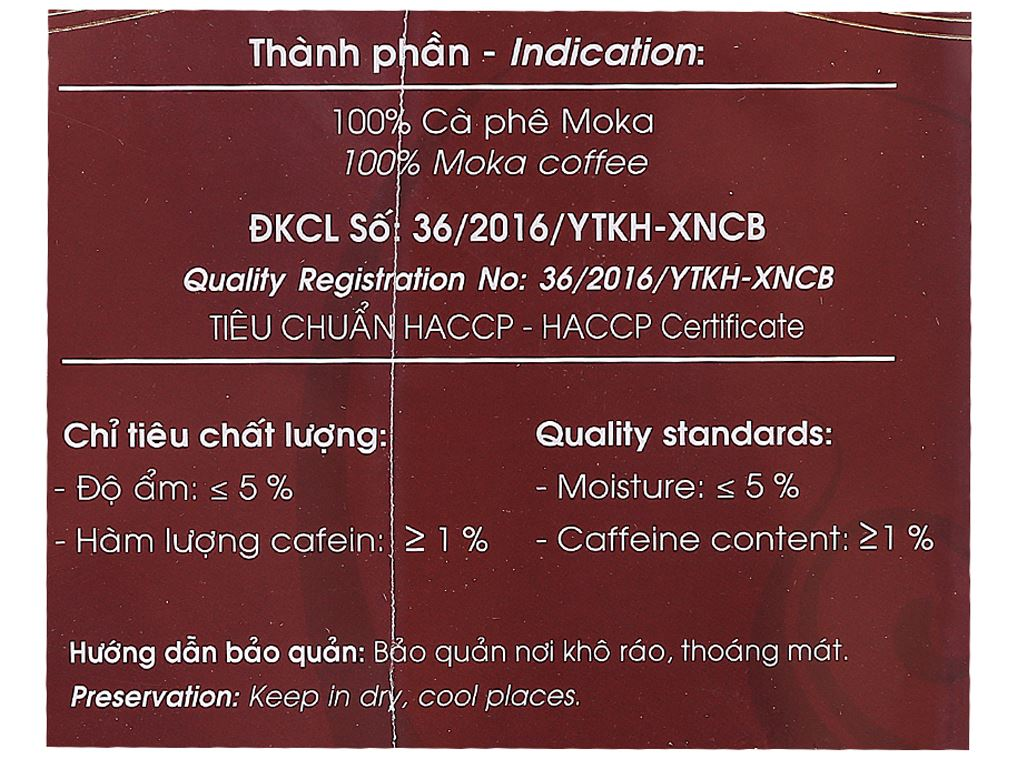 Cà phê Mê Trang Chồn gói 500g 4