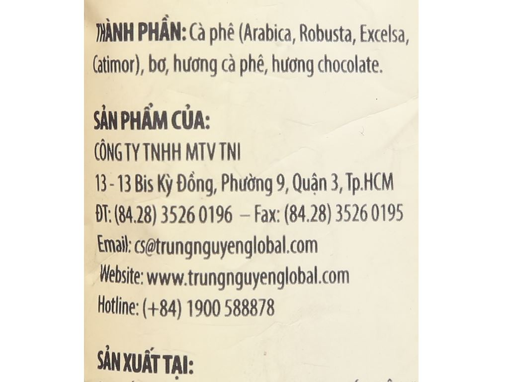 Cà phê TNI King Coffee Expert Blend 3 100g 8