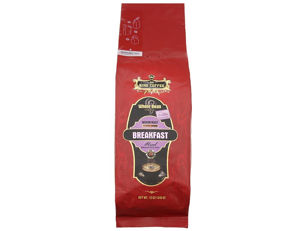 Cà phê nguyên hạt TNI King Coffee Breakfast gói 340g 2