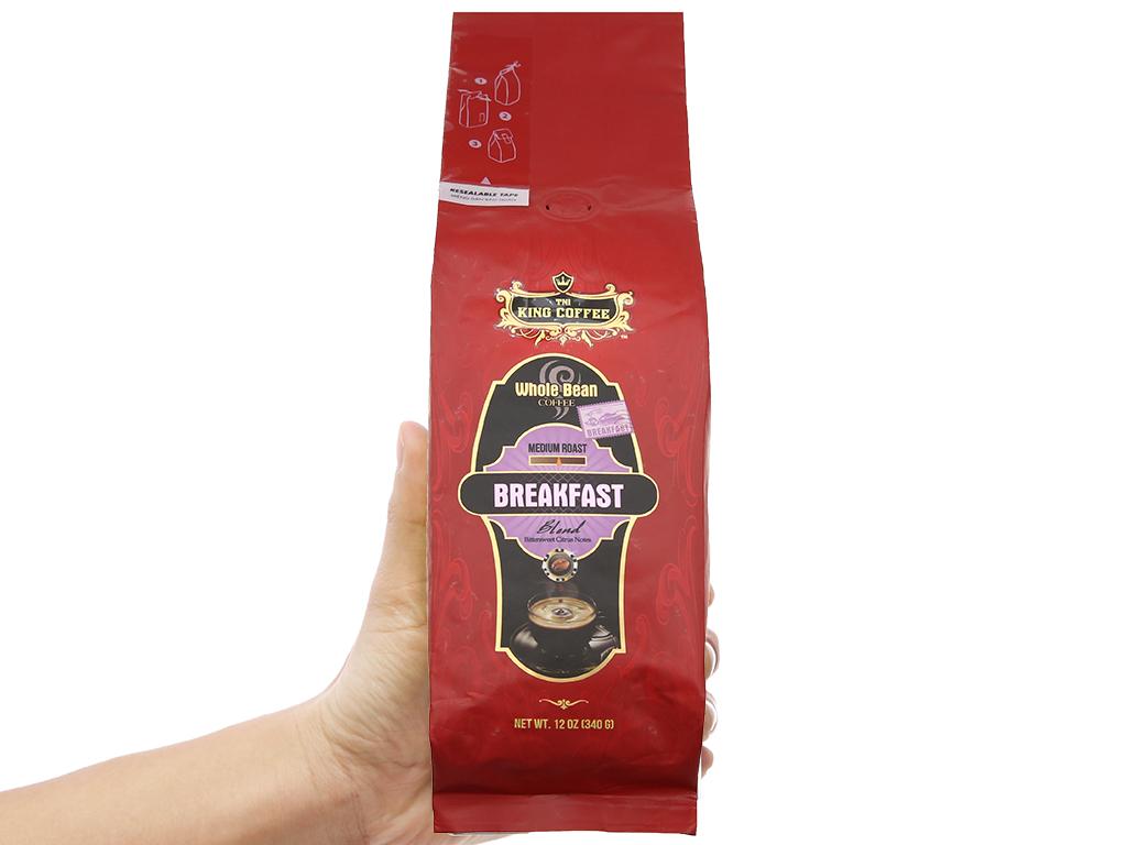 Cà phê nguyên hạt TNI King Coffee Breakfast gói 340g 6