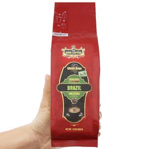 Cà phê nguyên hạt King Coffee Arabica Brazil gói 340g
