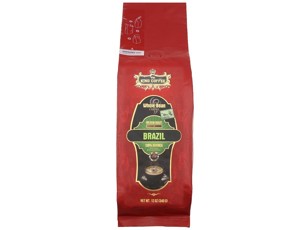 Cà phê nguyên hạt TNI King Coffee Arabica Brazil gói 340g 1