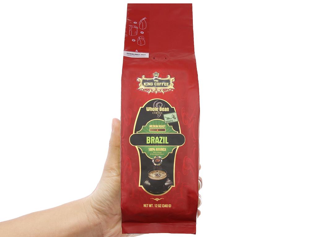 Cà phê nguyên hạt TNI King Coffee Arabica Brazil gói 340g 3