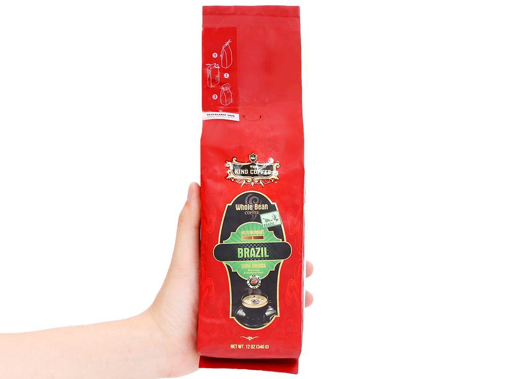 Cà phê nguyên hạt TNI King Coffee Arabica Brazil 340g 10