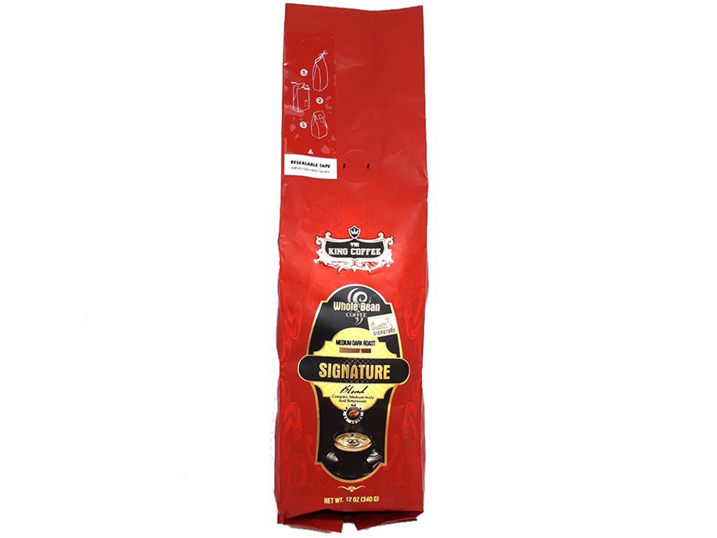 Cà phê nguyên hạt TNI King Coffee Signature Blend gói 340g 1