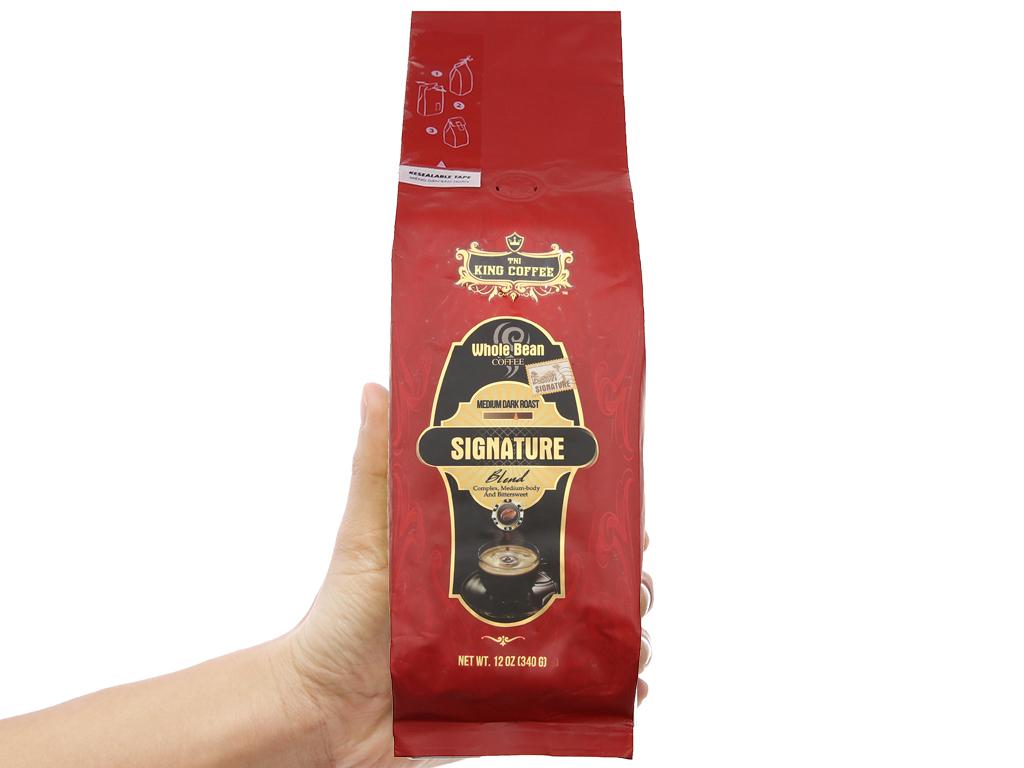 Cà phê nguyên hạt TNI King Coffee Signature Blend gói 340g 4