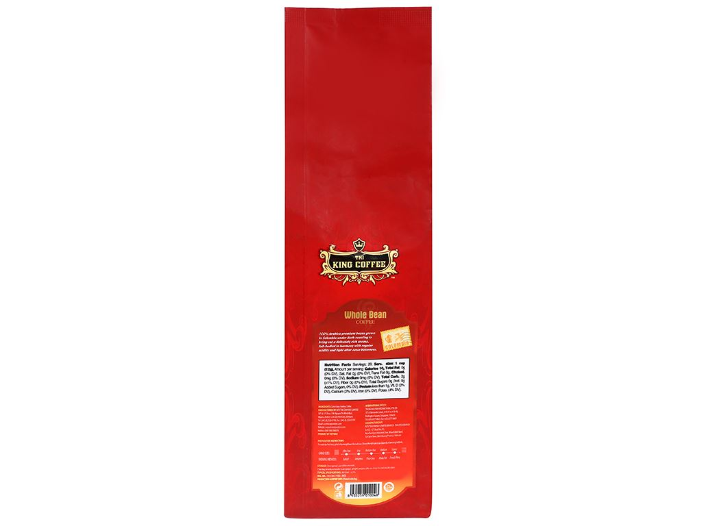 Cà phê nguyên hạt TNI King Coffee Arabica Colombia 340g 6