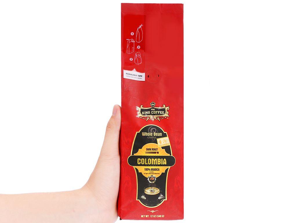 Cà phê nguyên hạt TNI King Coffee Arabica Colombia 340g 10