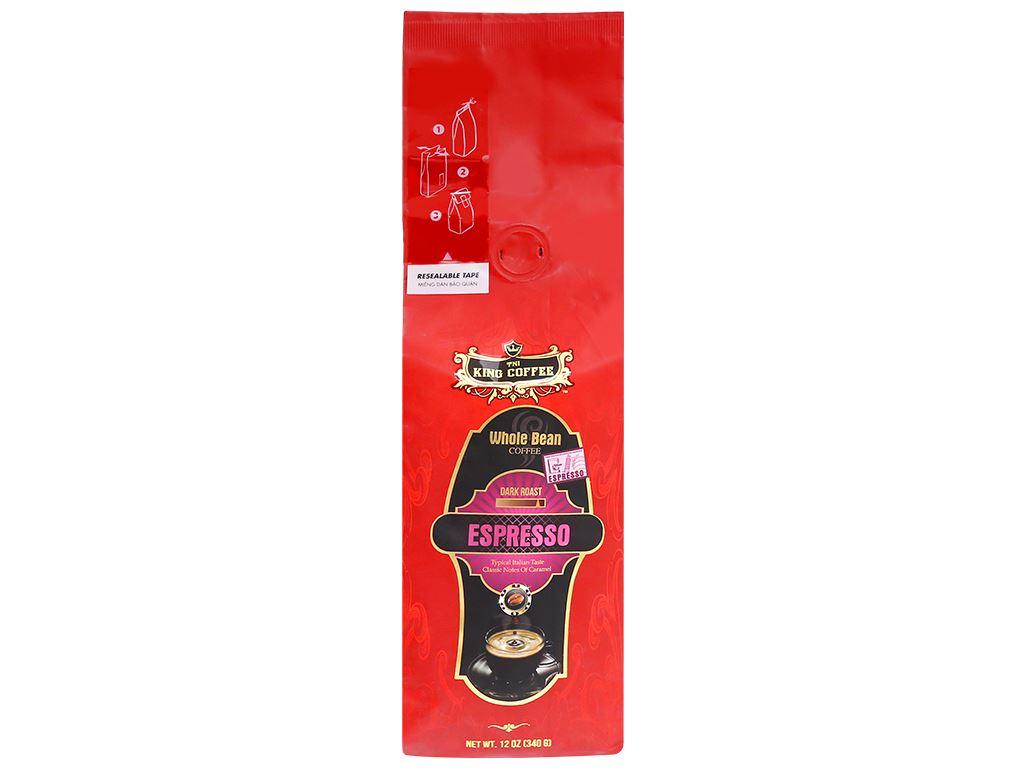 Cà phê nguyên hạt TNI King Coffee Espresso 340g 6