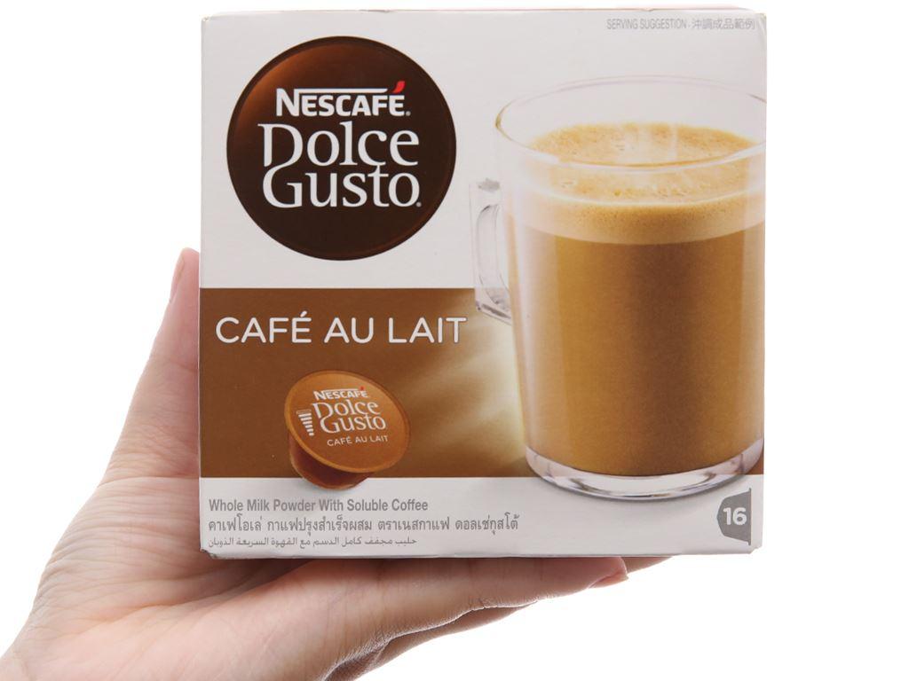 Cà phê viên nén NesCafé Dolce Gusto Café Au Lait 160g 2