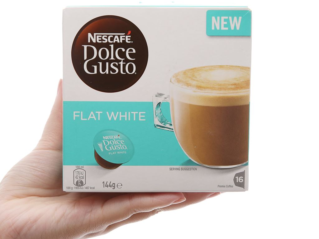 Cà phê viên nén NesCafé Dolce Gusto Flat White 144g 1