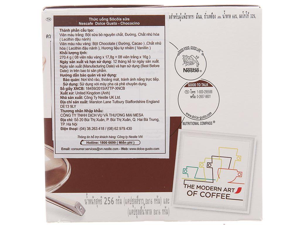Cà phê viên nén NesCafé Dolce Gusto Chococino 270.4g 2