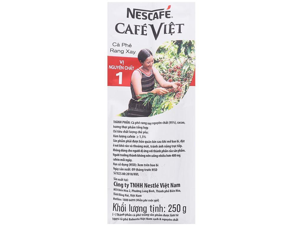 Cà phê nguyên hạt NesCafé Café Việt vị nguyên chất 1 250g 15