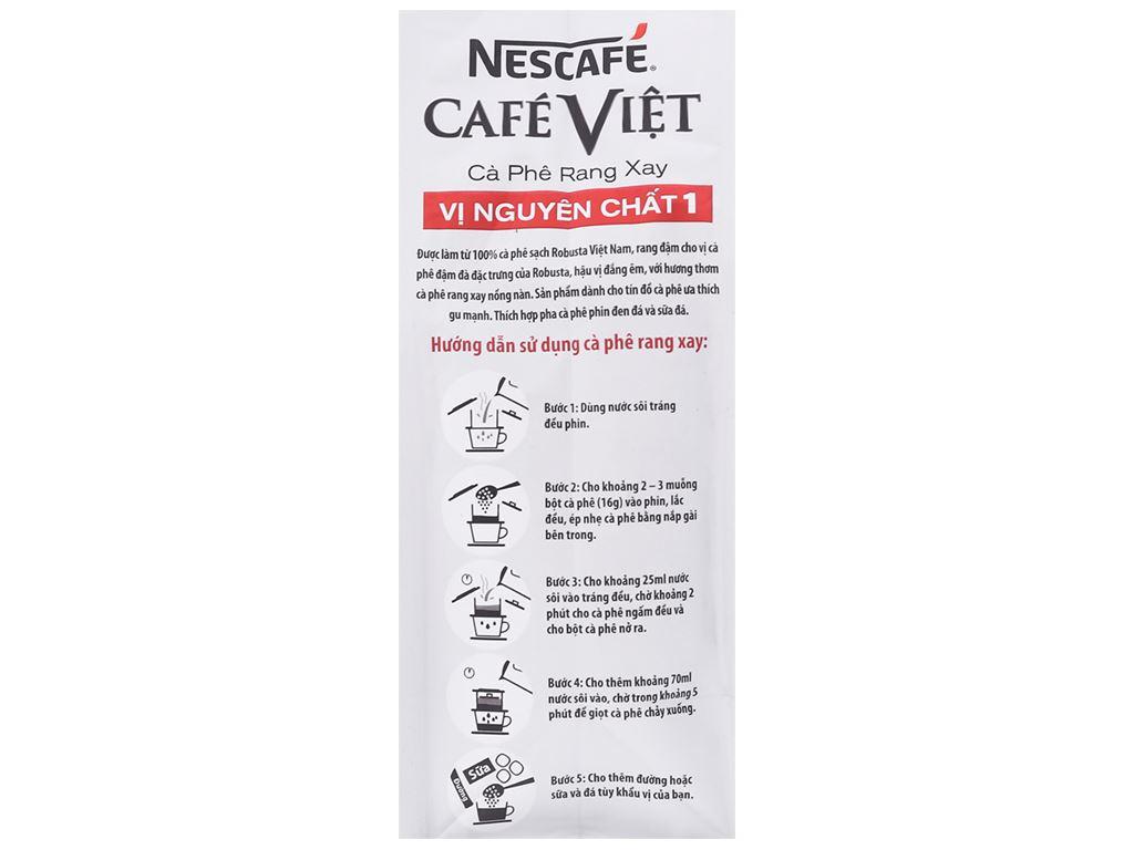 Cà phê nguyên hạt NesCafé Café Việt vị nguyên chất 1 250g 17