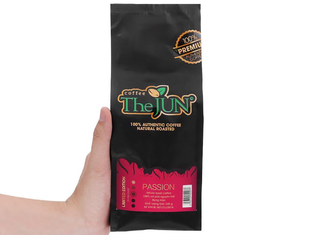 Cà phê nguyên hạt rang mộc The JUN Passion 345g 12