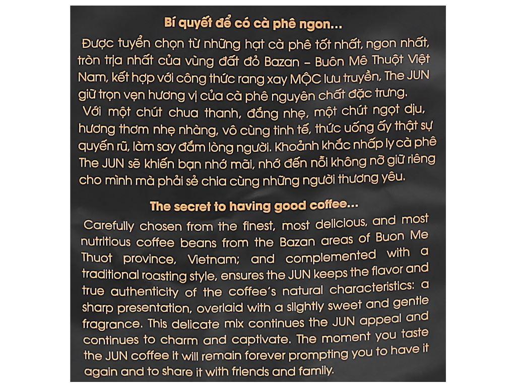 Cà phê rang xay mộc The JUN tư duy 345g 10