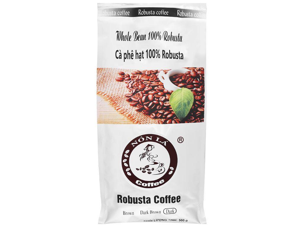 Cà phê nguyên hạt Nón Lá Robusta Dark 500g 6