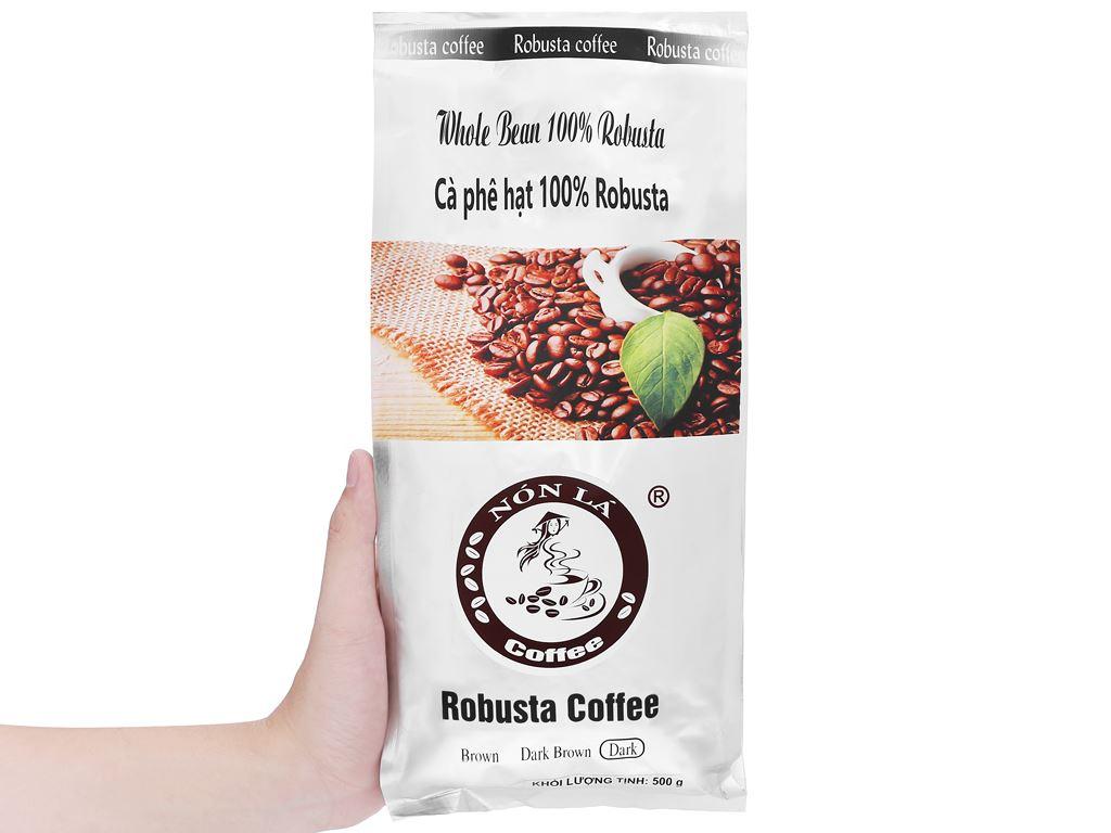 Cà phê nguyên hạt Nón Lá Robusta Dark 500g 11