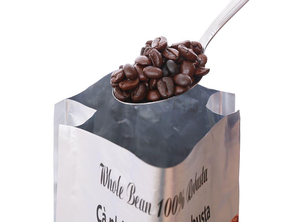 Cà phê nguyên hạt Nón Lá Robusta Dark 500g 12