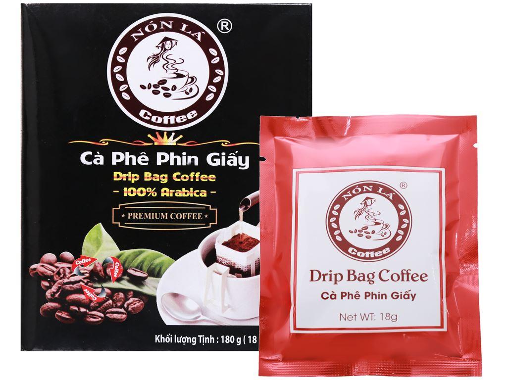 Cà phê phin giấy Nón Lá 180g 8