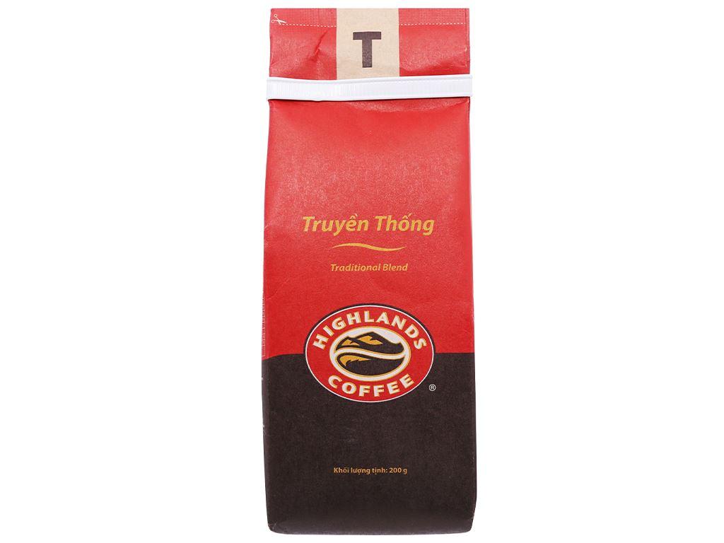 Cà phê Highlands truyền thống 200g 2