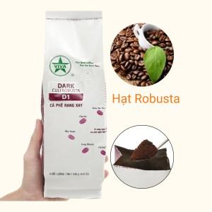 Cà phê rang xay Viva Culi Robusta D1 500g