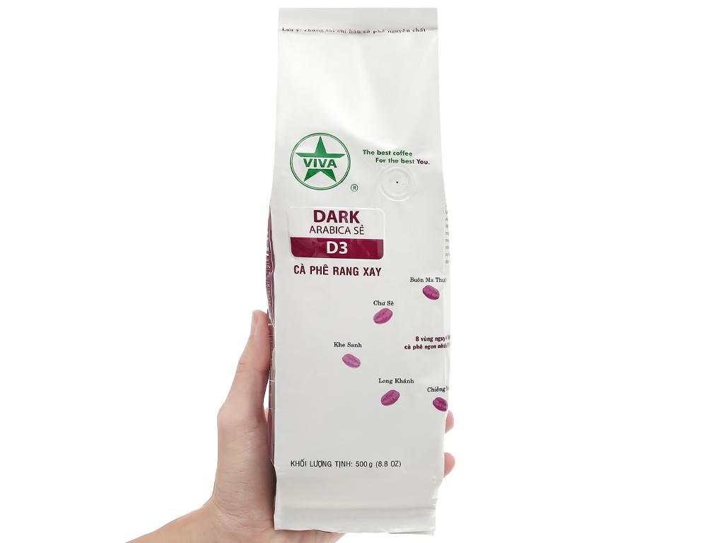 Cà phê rang xay Viva Arabica Sẻ D3 500g 1