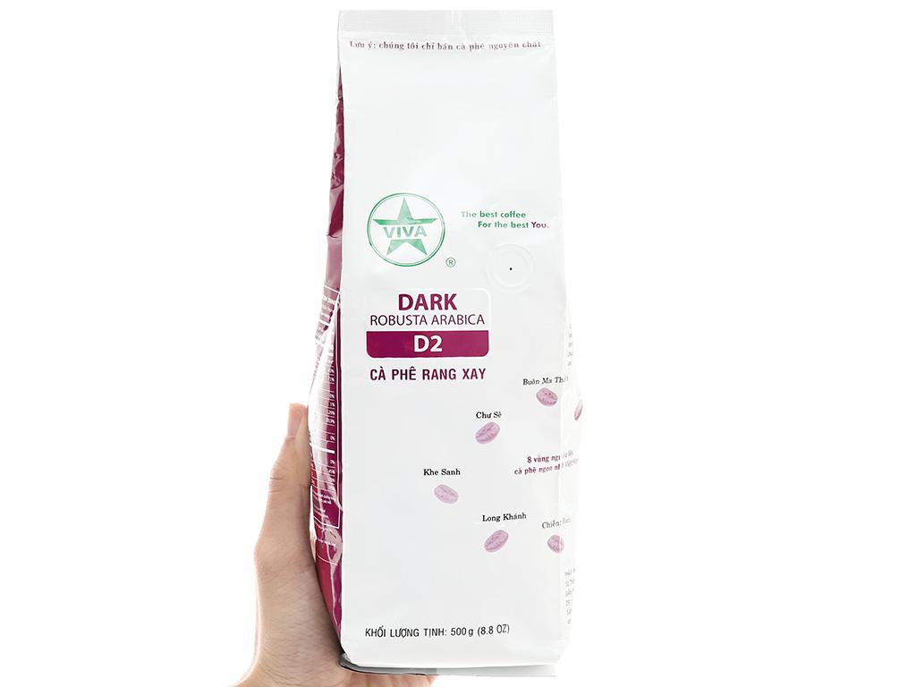 Cà phê rang xay Viva Robusta Arabica D2 500g 1