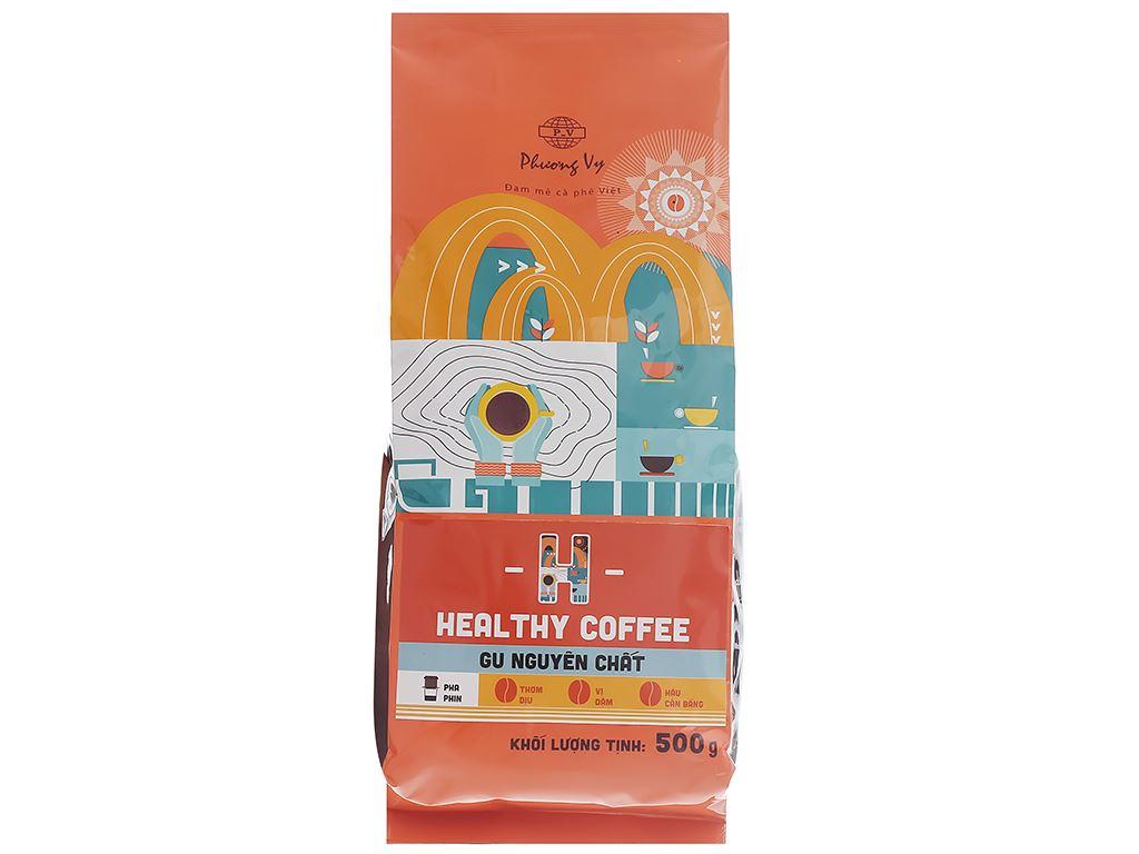 Cà phê rang xay Phương Vy Healthy Coffee gu nguyên chất 500g 1