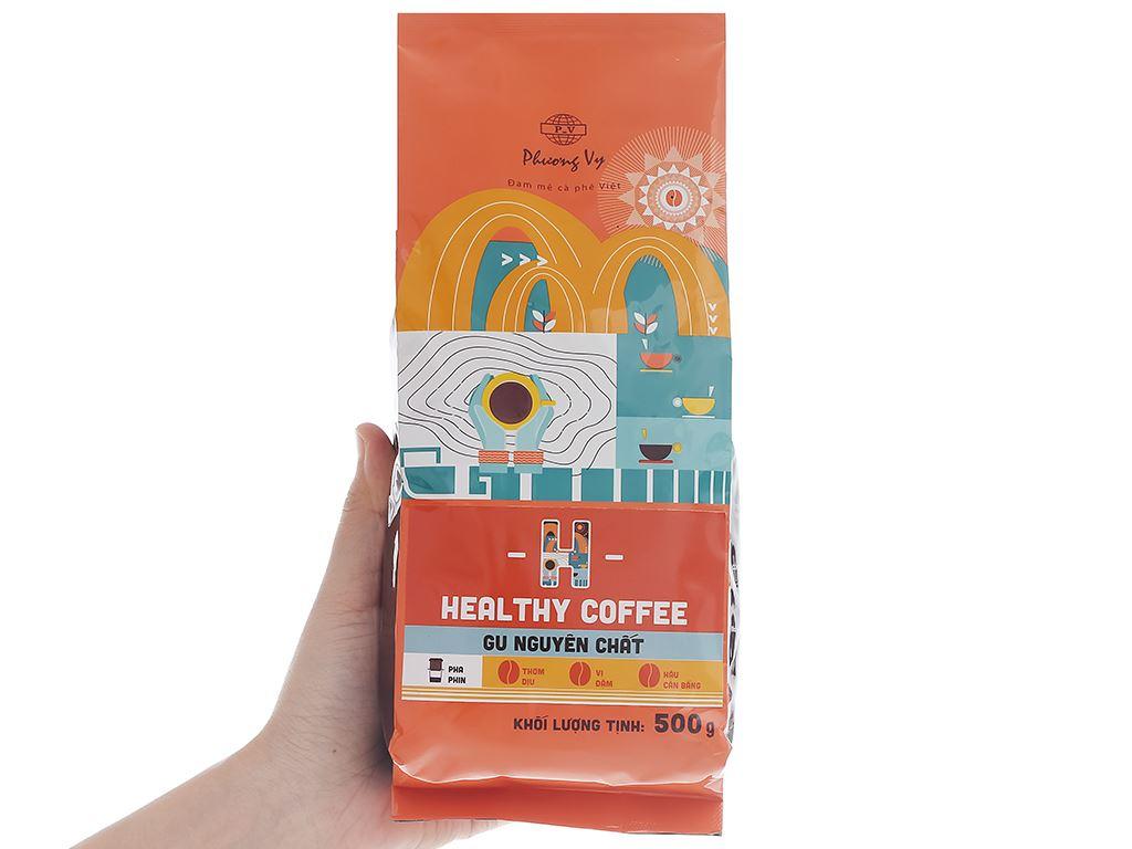 Cà phê rang xay Phương Vy Healthy Coffee gu nguyên chất 500g 6