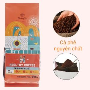 Cà phê rang xay Phương Vy Healthy Coffee gu nguyên chất 500g