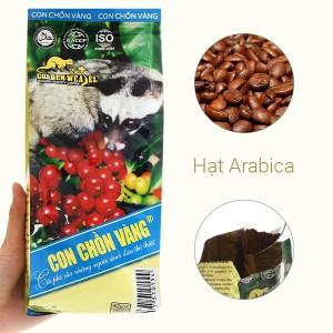 Cà phê rang xay nguyên chất Con chồn vàng Cacao - Chocolate 500g