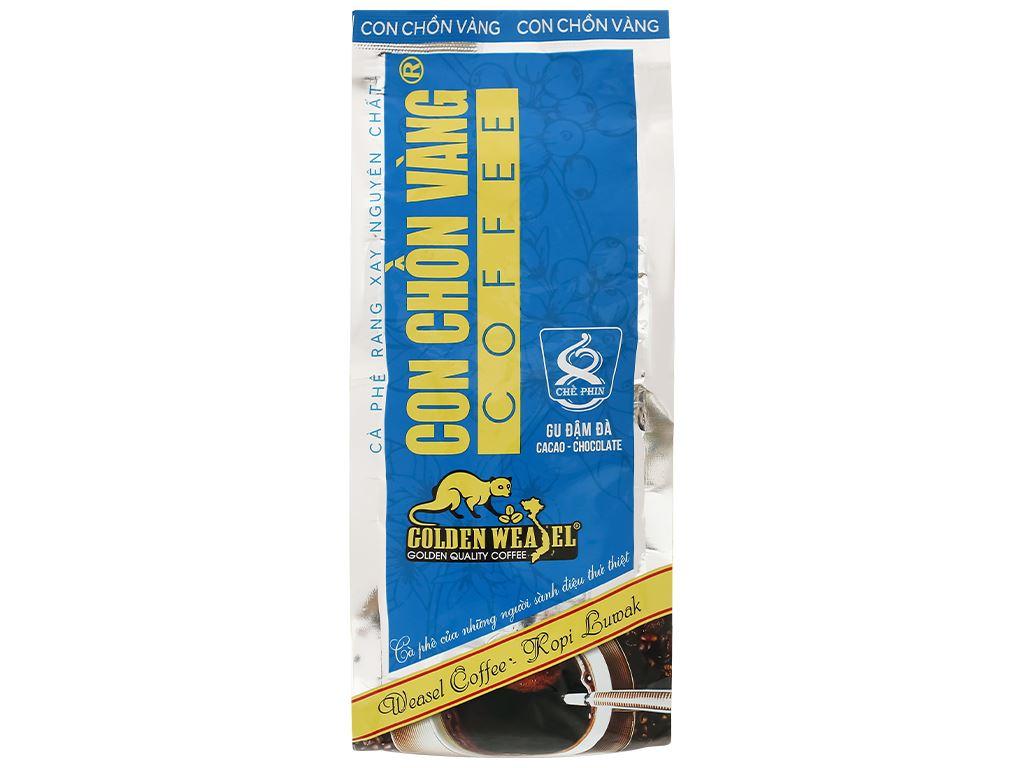 Cà phê rang xay nguyên chất Con chồn vàng Cacao - Chocolate 500g 3